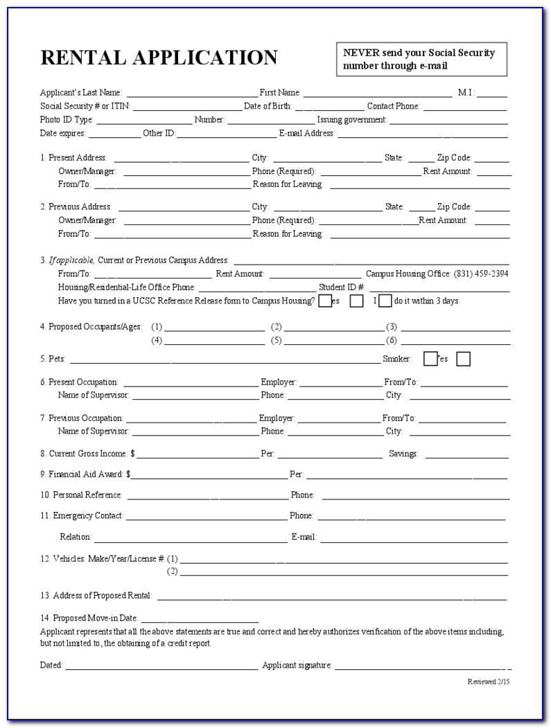Rental Application Form California Nolo