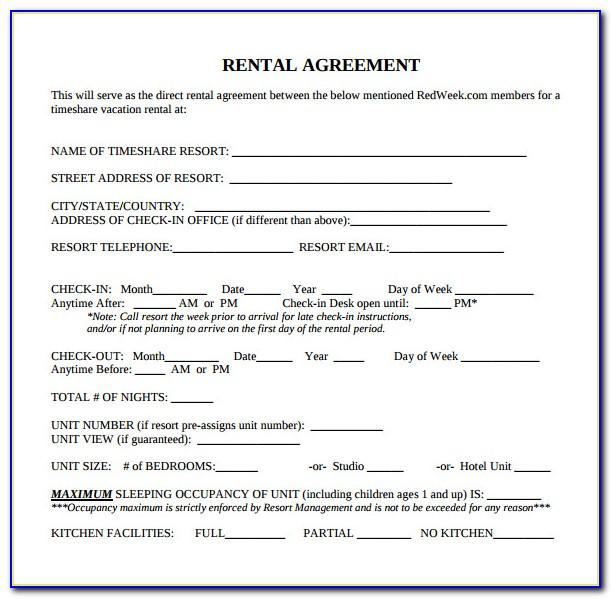 Rental Lease Agreement Template Free Victoria
