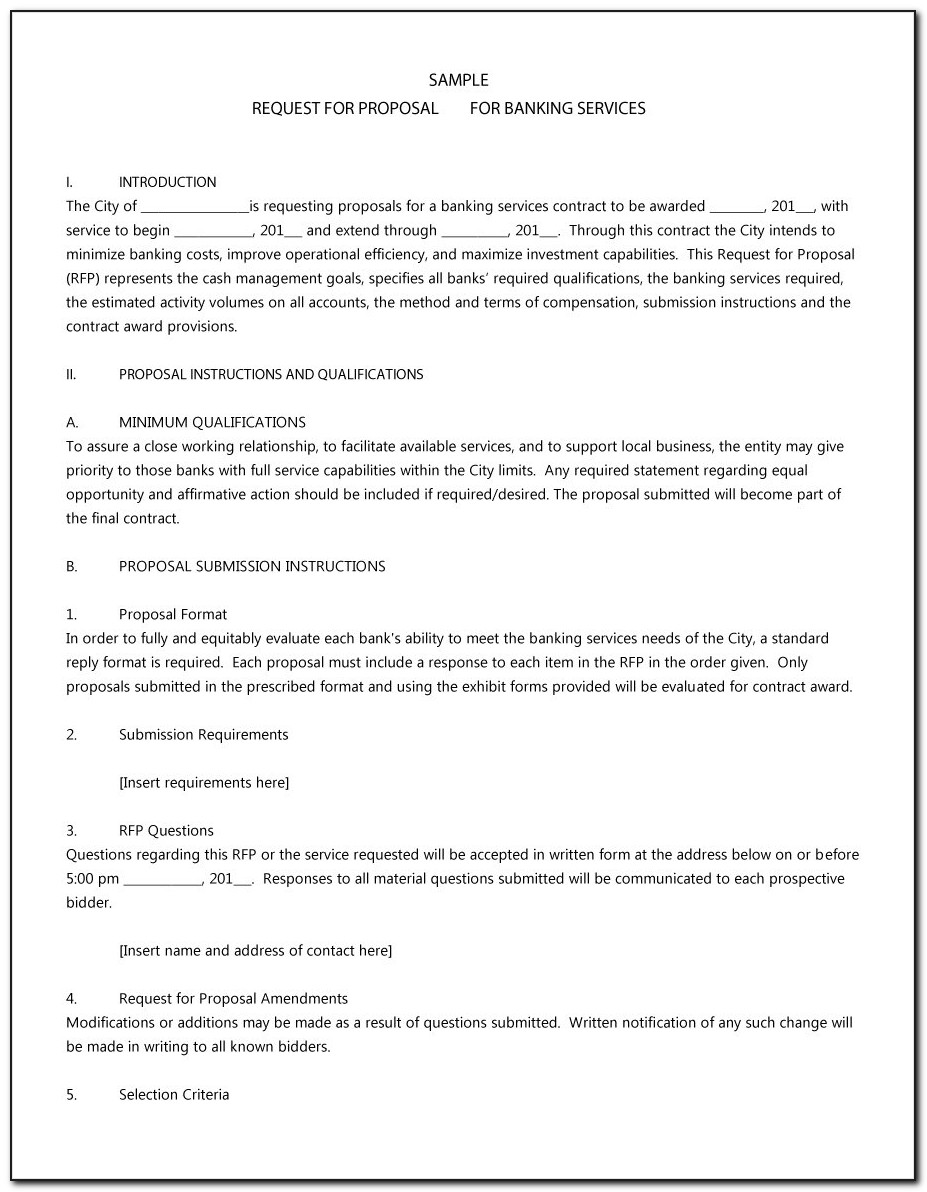 Request For Proposal Template Doc