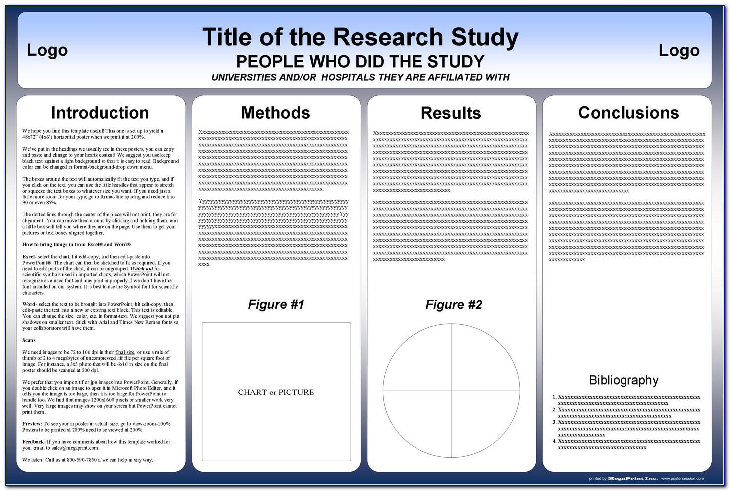 Research Poster Template Free Download Word