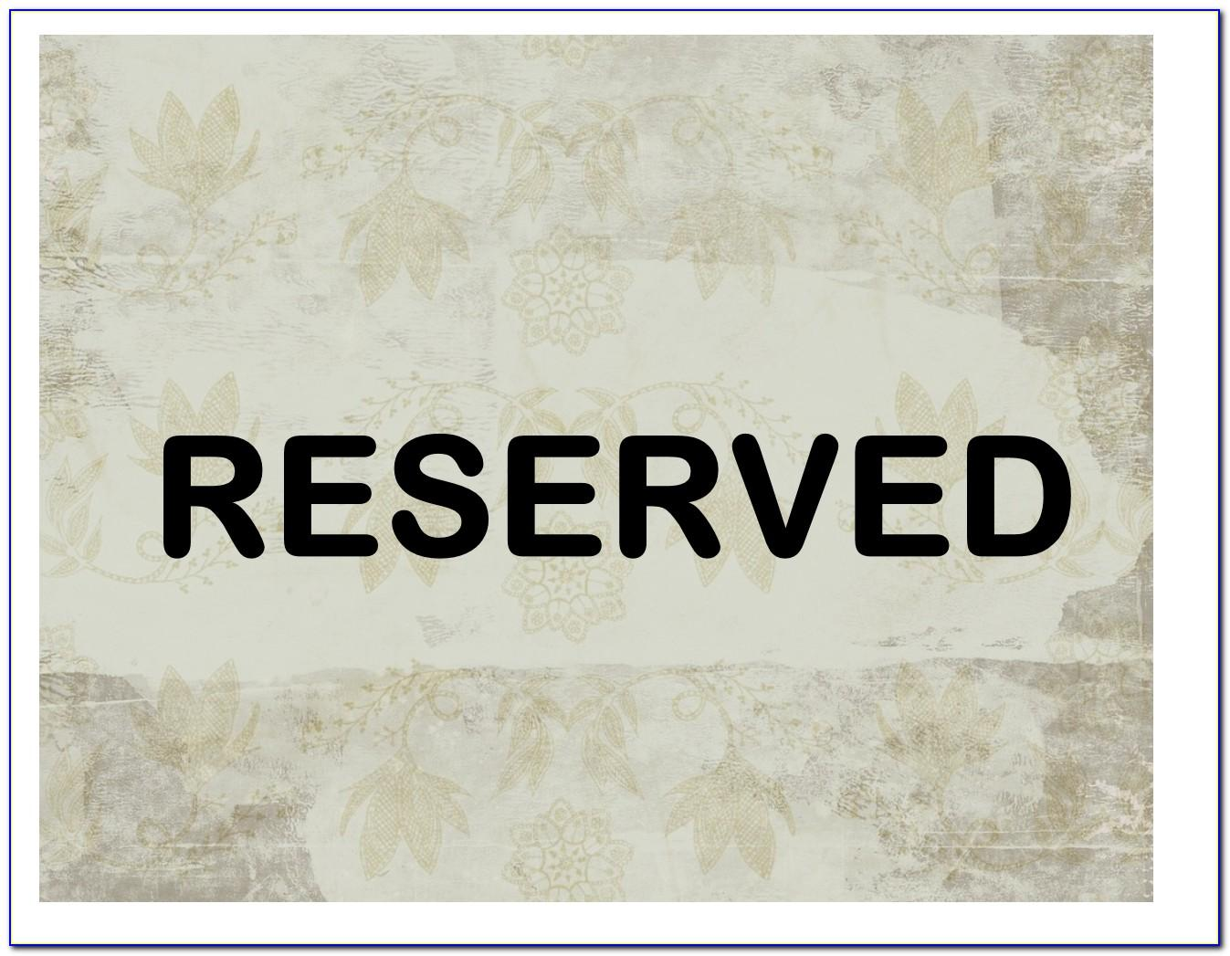 Reserved Parking Sign Template Word