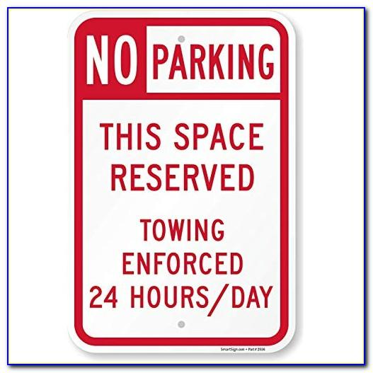 Reserved Parking Sign Template