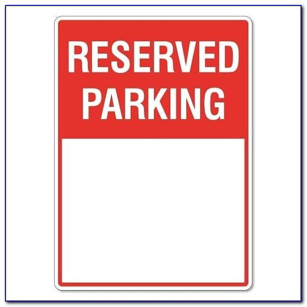 Reserved Parking Signs Template Free