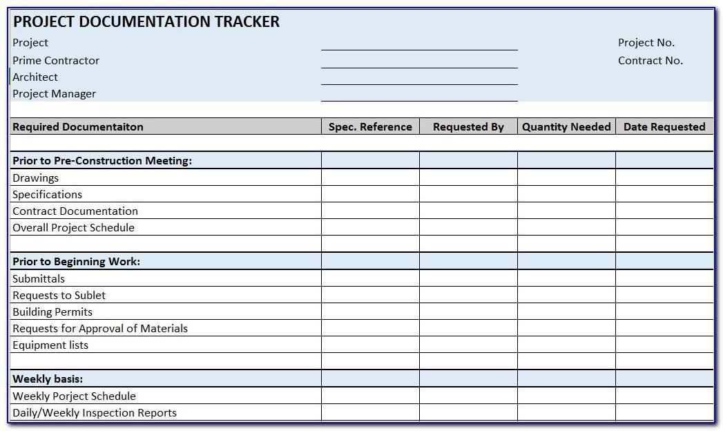 Residential Construction Excel Template