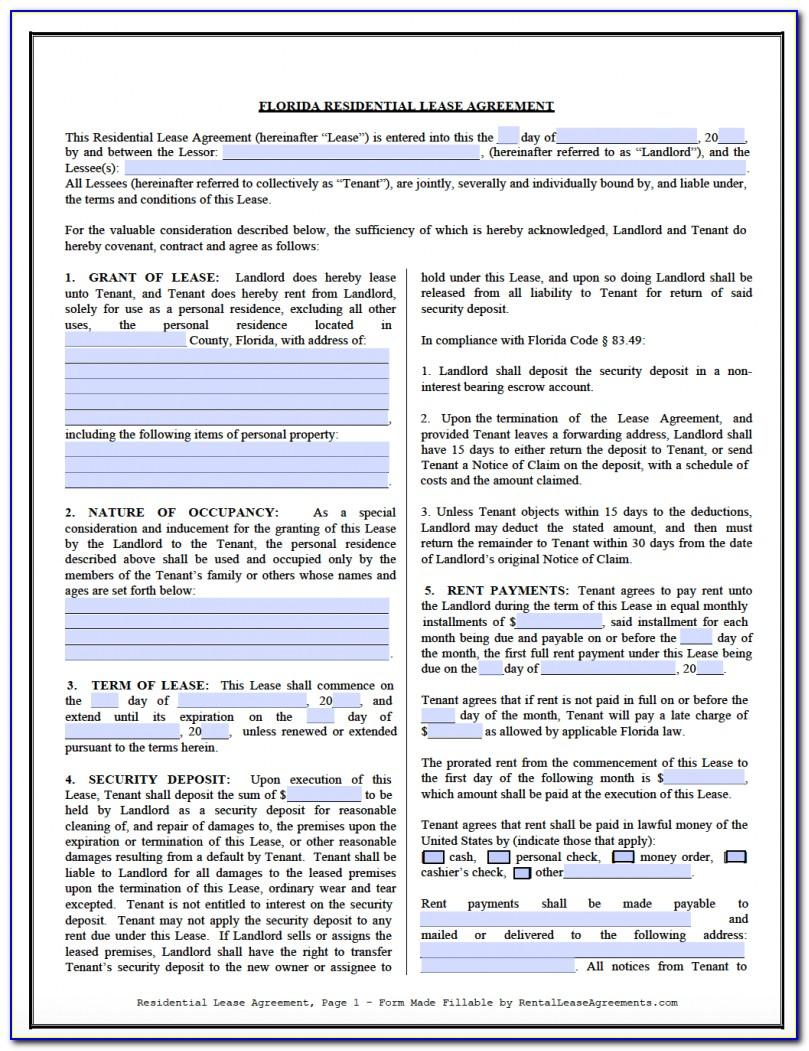Residential Lease Agreement Form 550