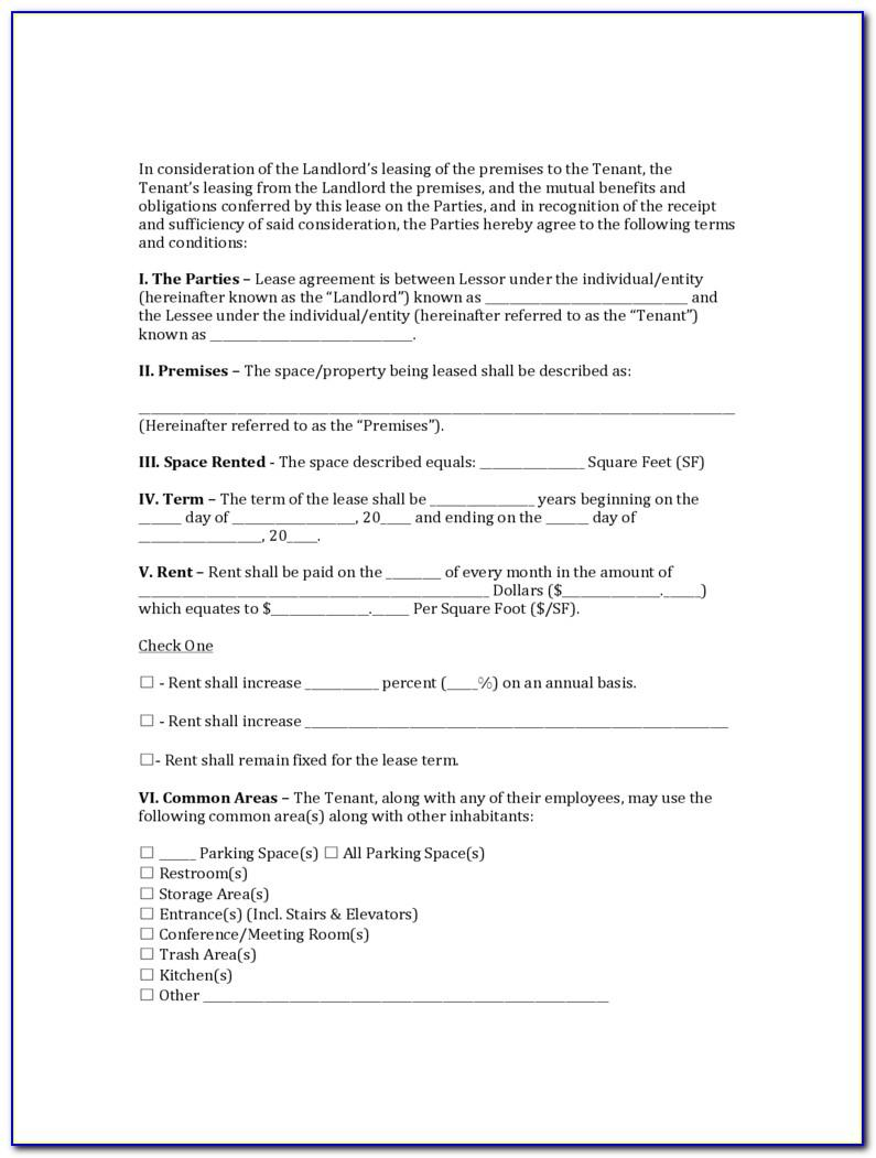 Residential Lease Agreement In Word Format