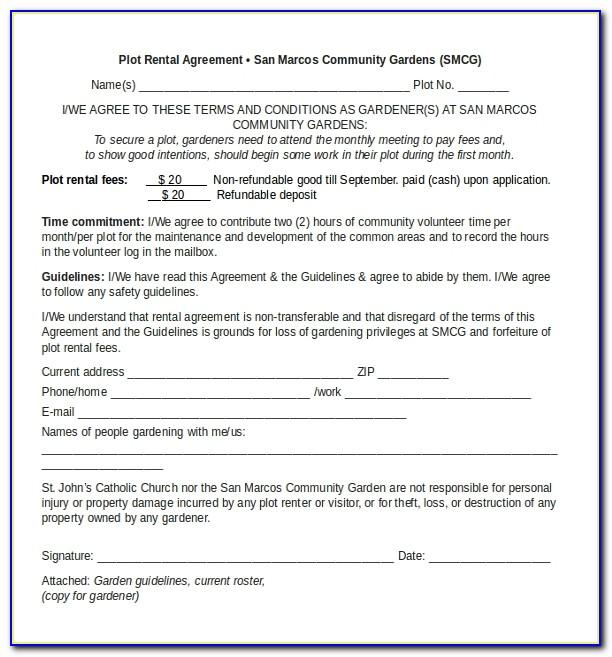 Residential Lease Agreement Microsoft Word