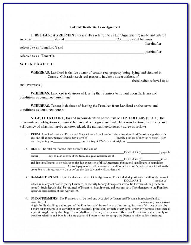 Residential Lease Agreement Template Free Download