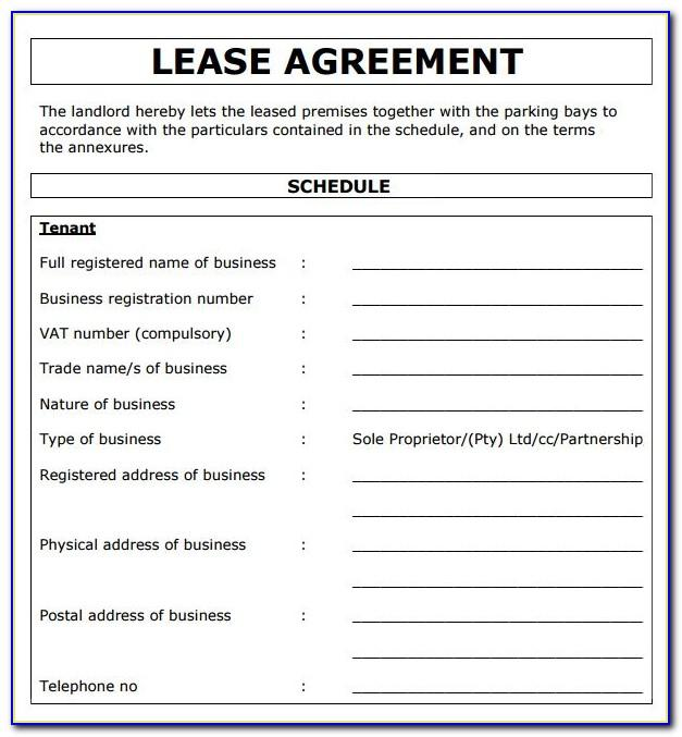 Residential Lease Agreement Template Georgia