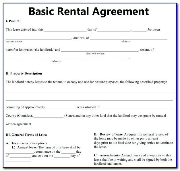 Residential Lease Agreement Template Ontario Free