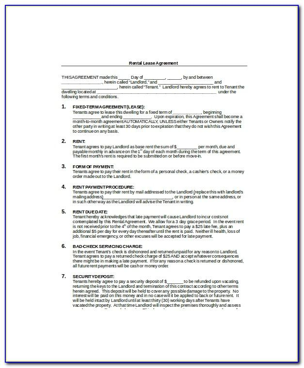 Residential Lease Agreement Template Uk
