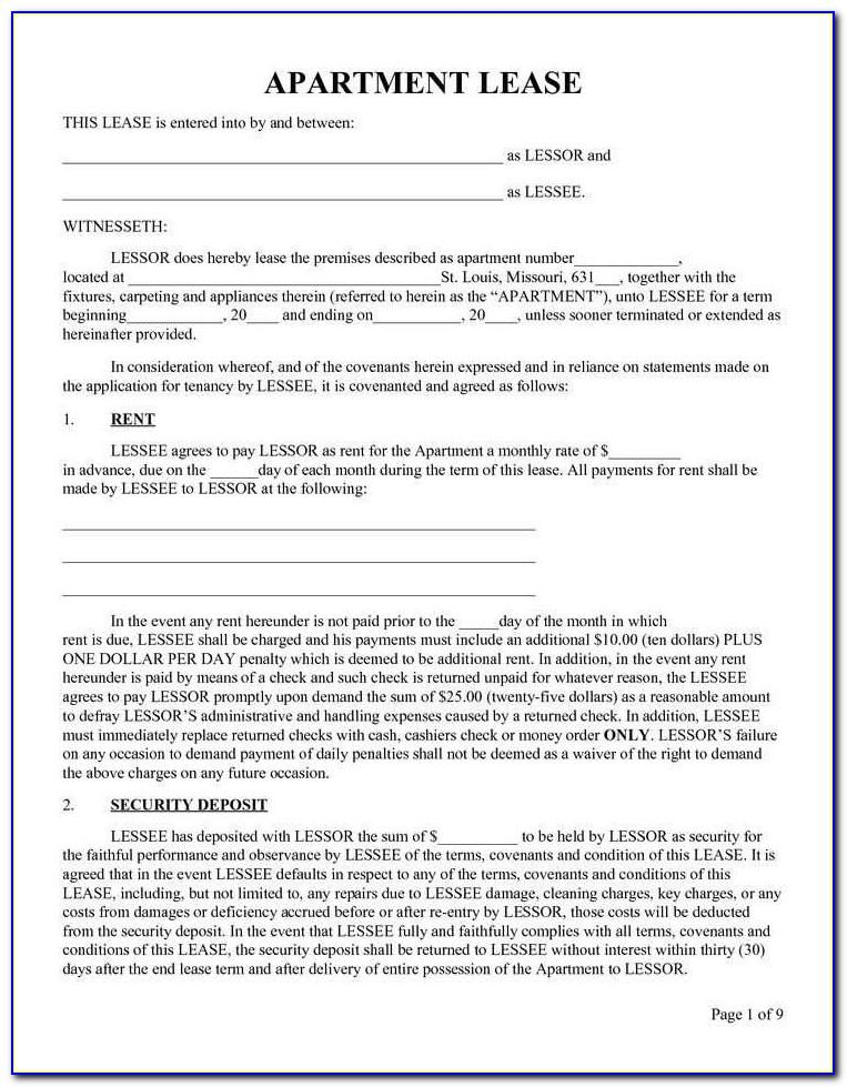 Residential Lease Agreement Word Document Ireland
