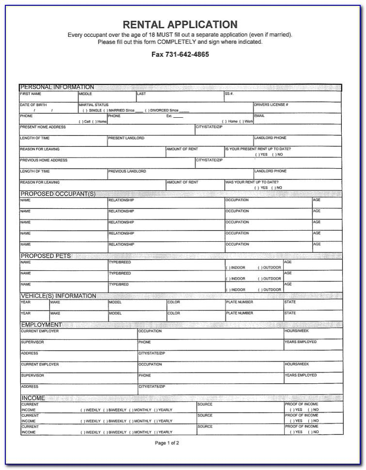 Residential Lease Rental Agreement Form Free Download