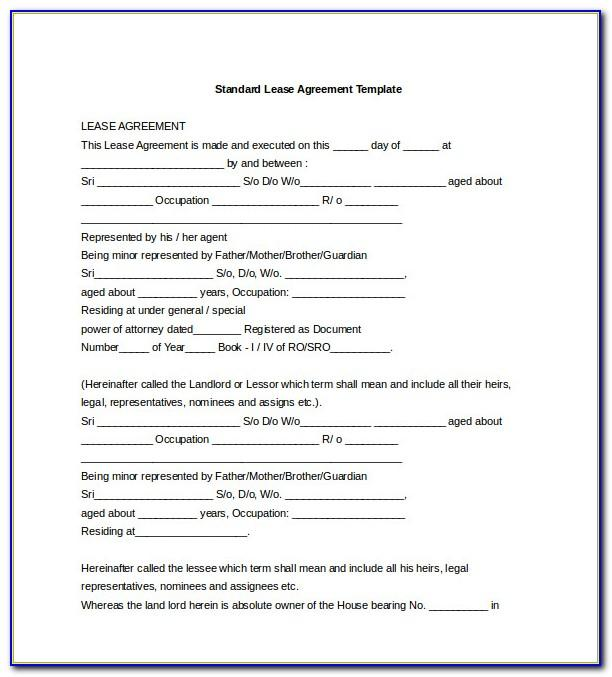 Residential Lease Template Florida