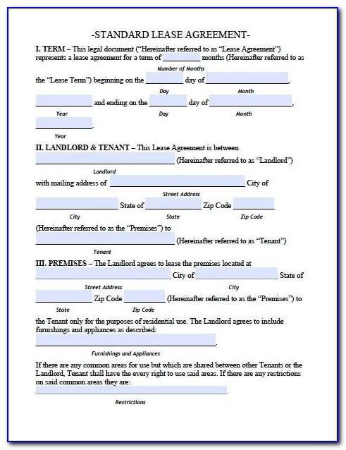Residential Lease Template Pa