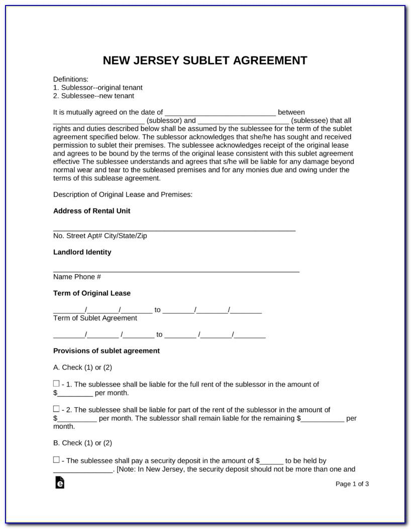 Residential Rental Agreement Form Ontario