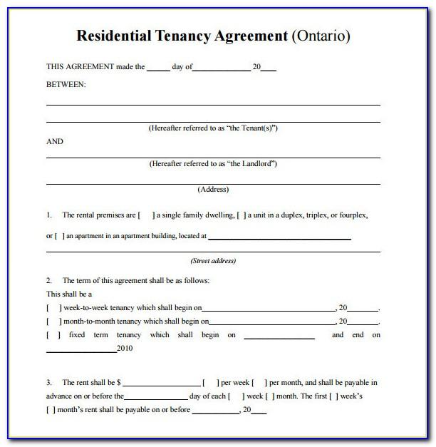 Residential Tenancy Agreement Form Ireland