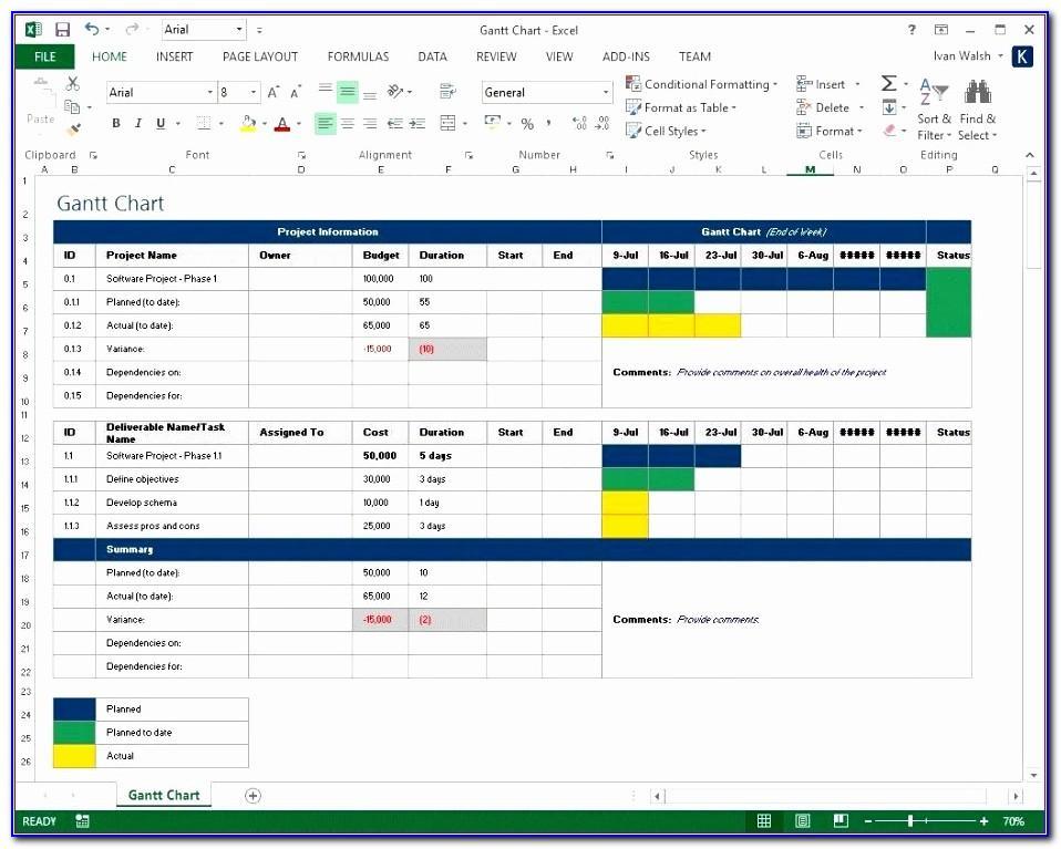 Resource Capacity Planning Spreadsheet Template