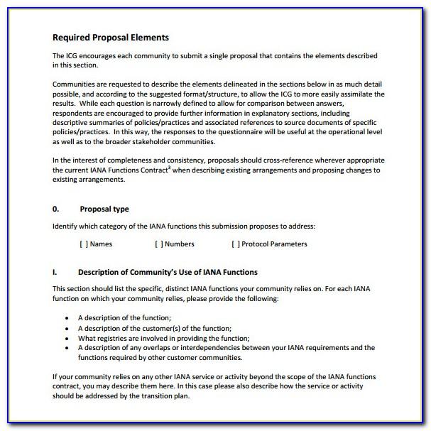Response To Rfp Template Pdf