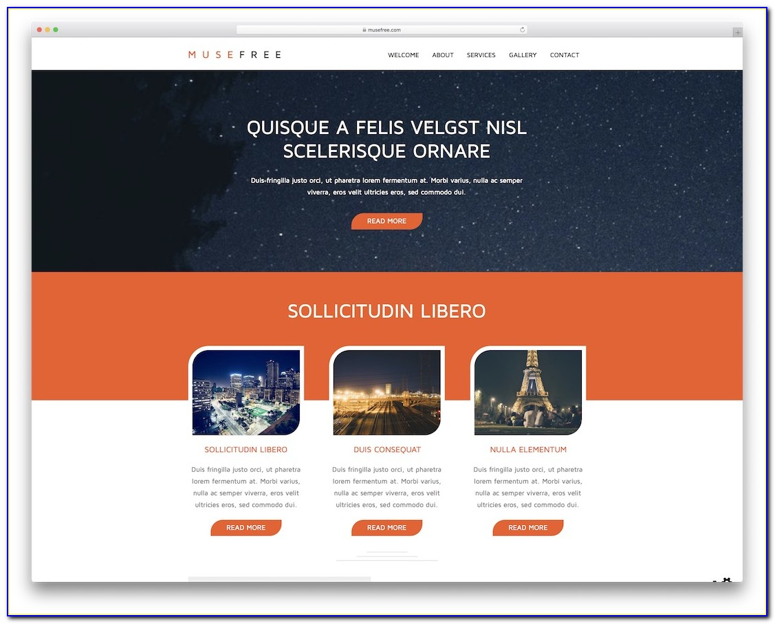 Responsive Adobe Muse Templates Free