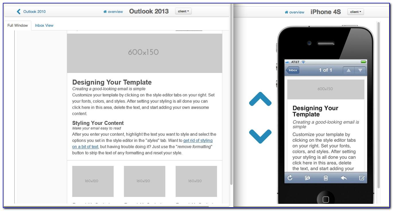 Responsive Email Template Outlook 2007