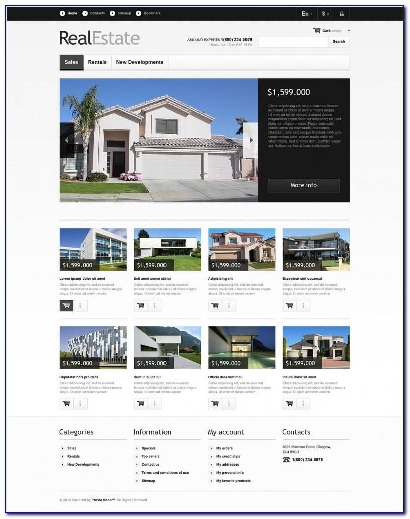Responsive Real Estate Web Templates