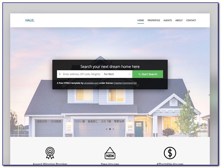 Responsive Real Estate Website Templates Free Download