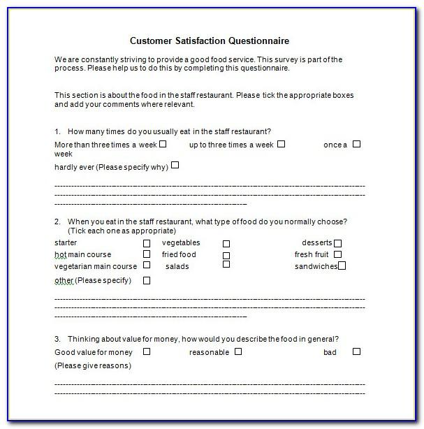 Restaurant Customer Survey Template