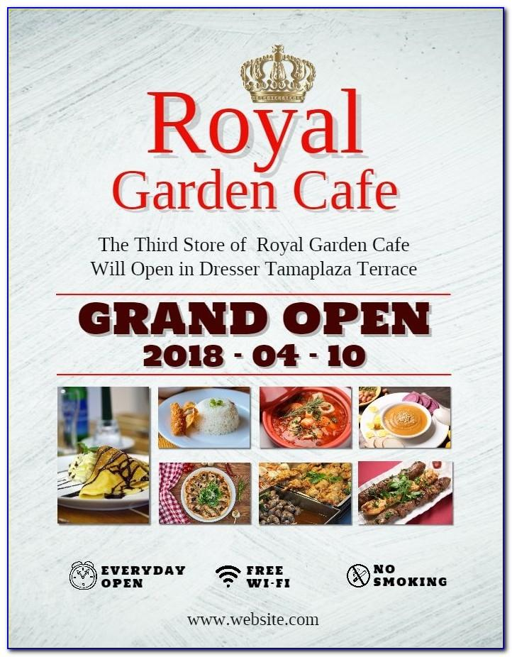 Restaurant Grand Opening Invitation Cards