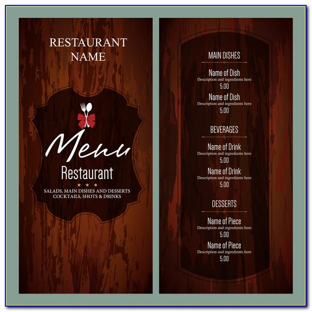 Restaurant Menu Design Templates Free Download