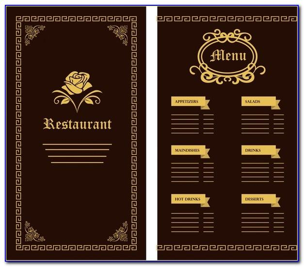 Restaurant Menu Design Templates Psd Free Download