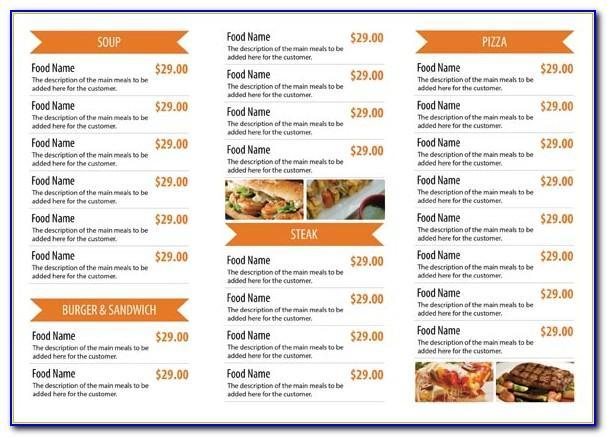 Restaurant Menu Powerpoint Template Free