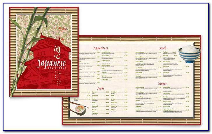 Restaurant Menu Template Free Download Word