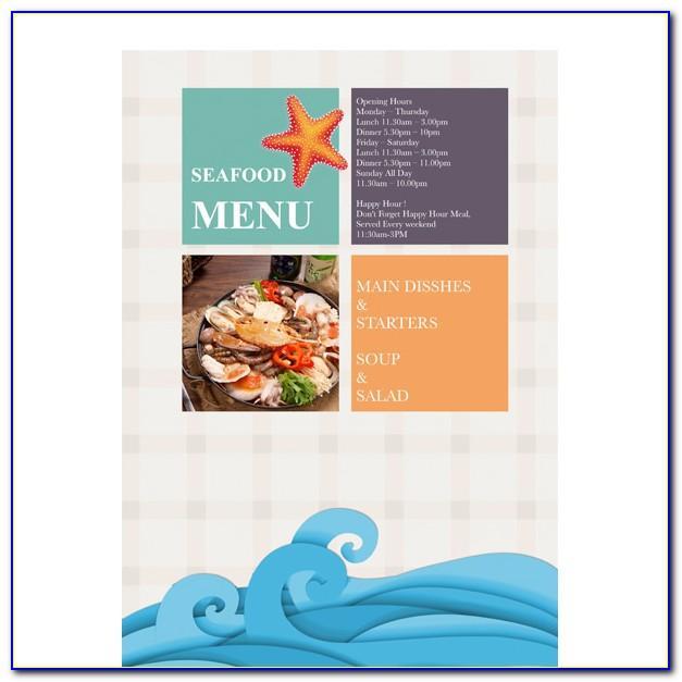 Restaurant Menu Templates Free Download Mac