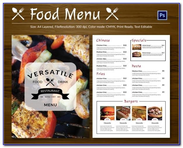 Restaurant Menu Templates Psd Free Download