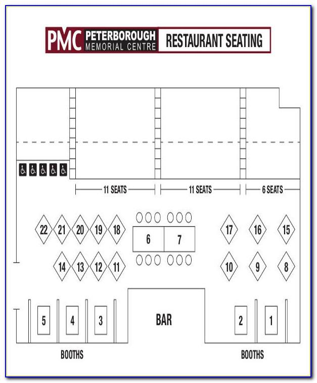 Restaurant Seating Plan Template