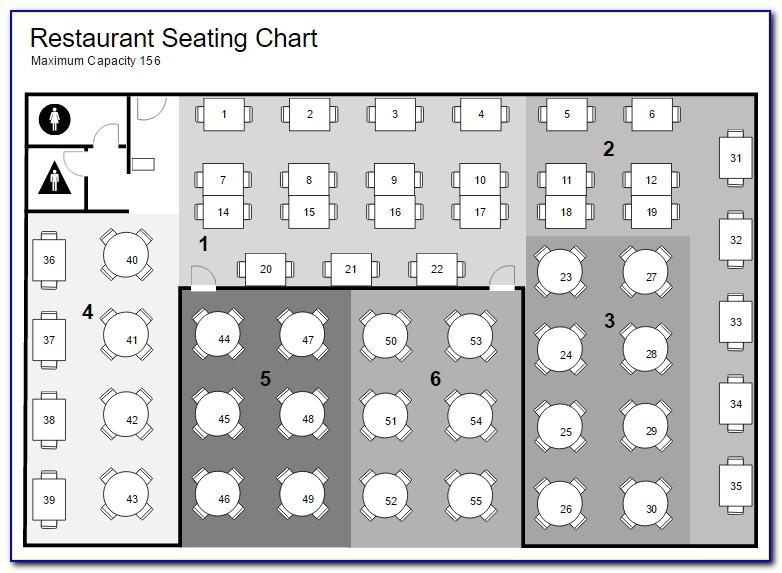 Restaurant Table Seating Plan Template