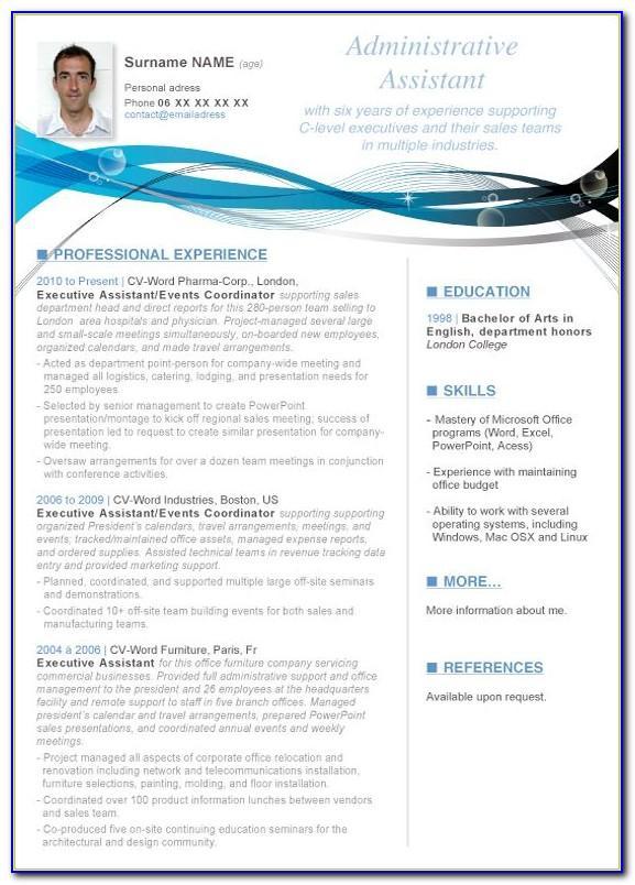Resume Blank Template Pdf