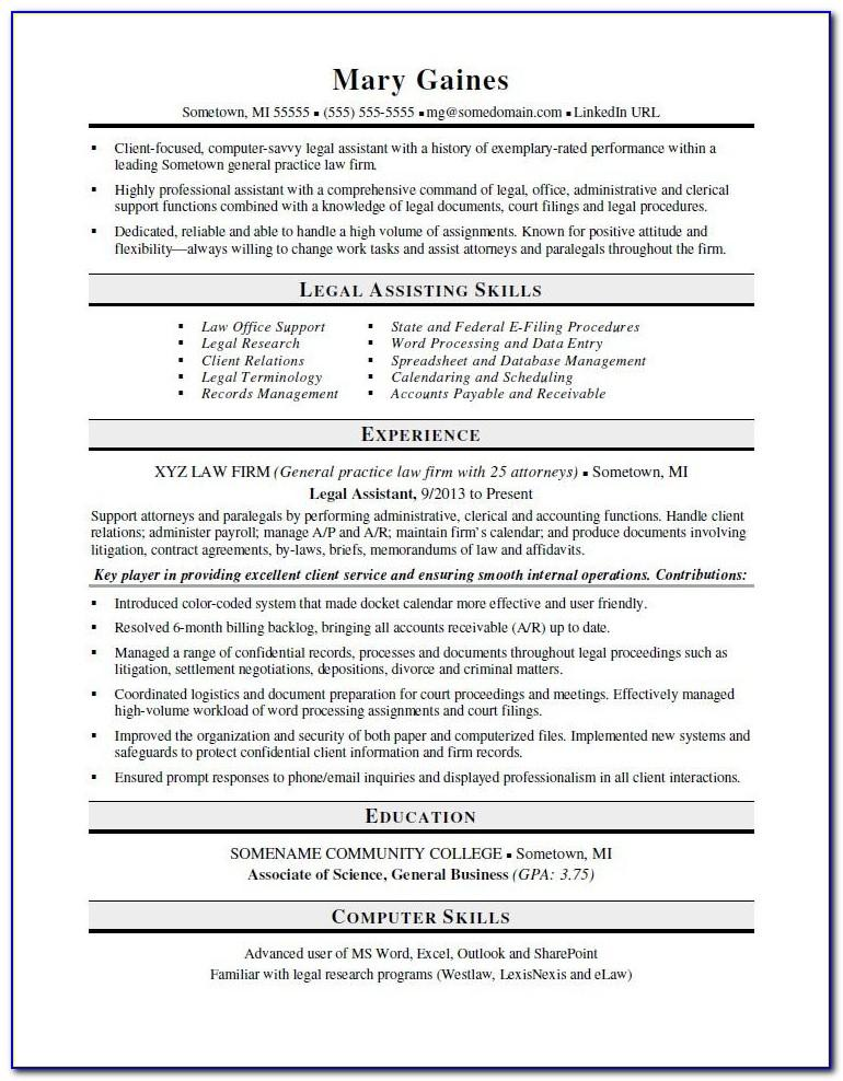 Resume Cover Letter Examples For Law Enforcement