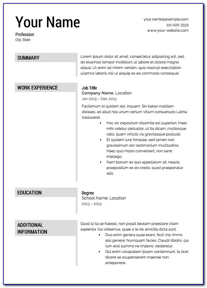 Resume Cover Page Template Free