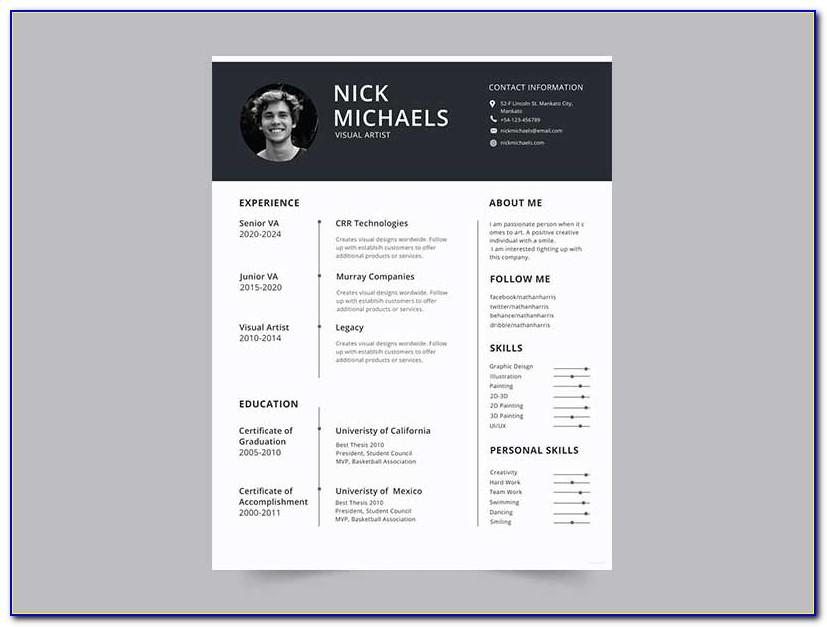 Resume Design Templates Psd Free Download