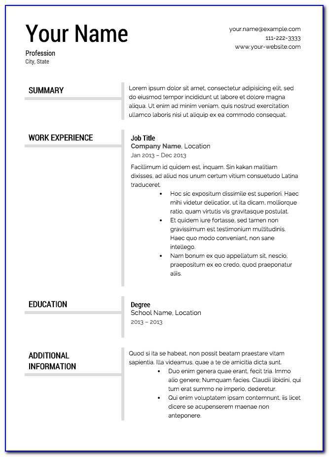 Resume Example For Construction Worker