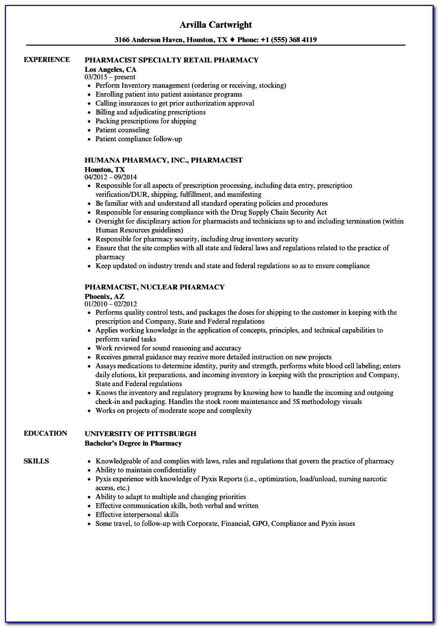 Resume Example For Retail Manager