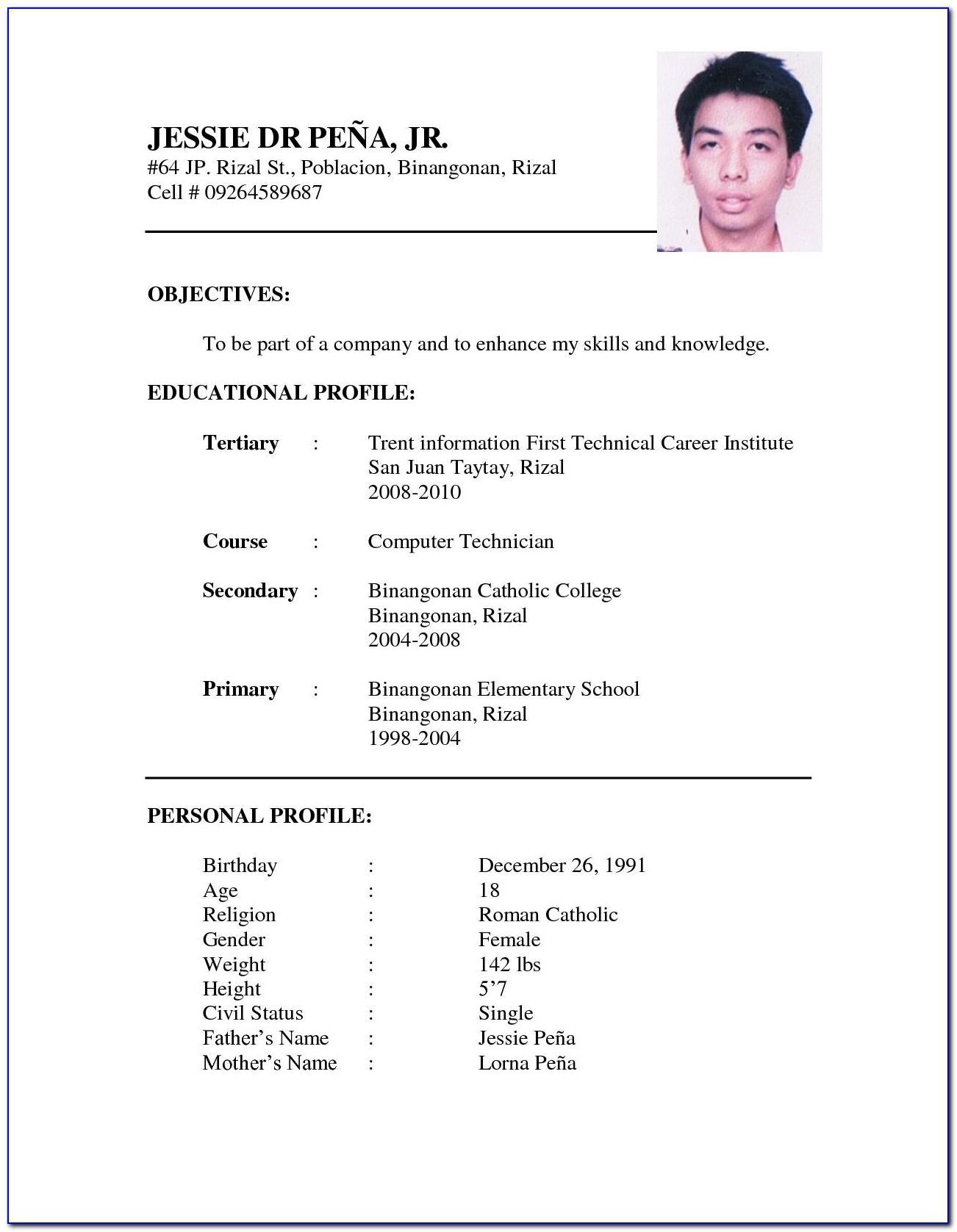 Resume Example For Sales Representative