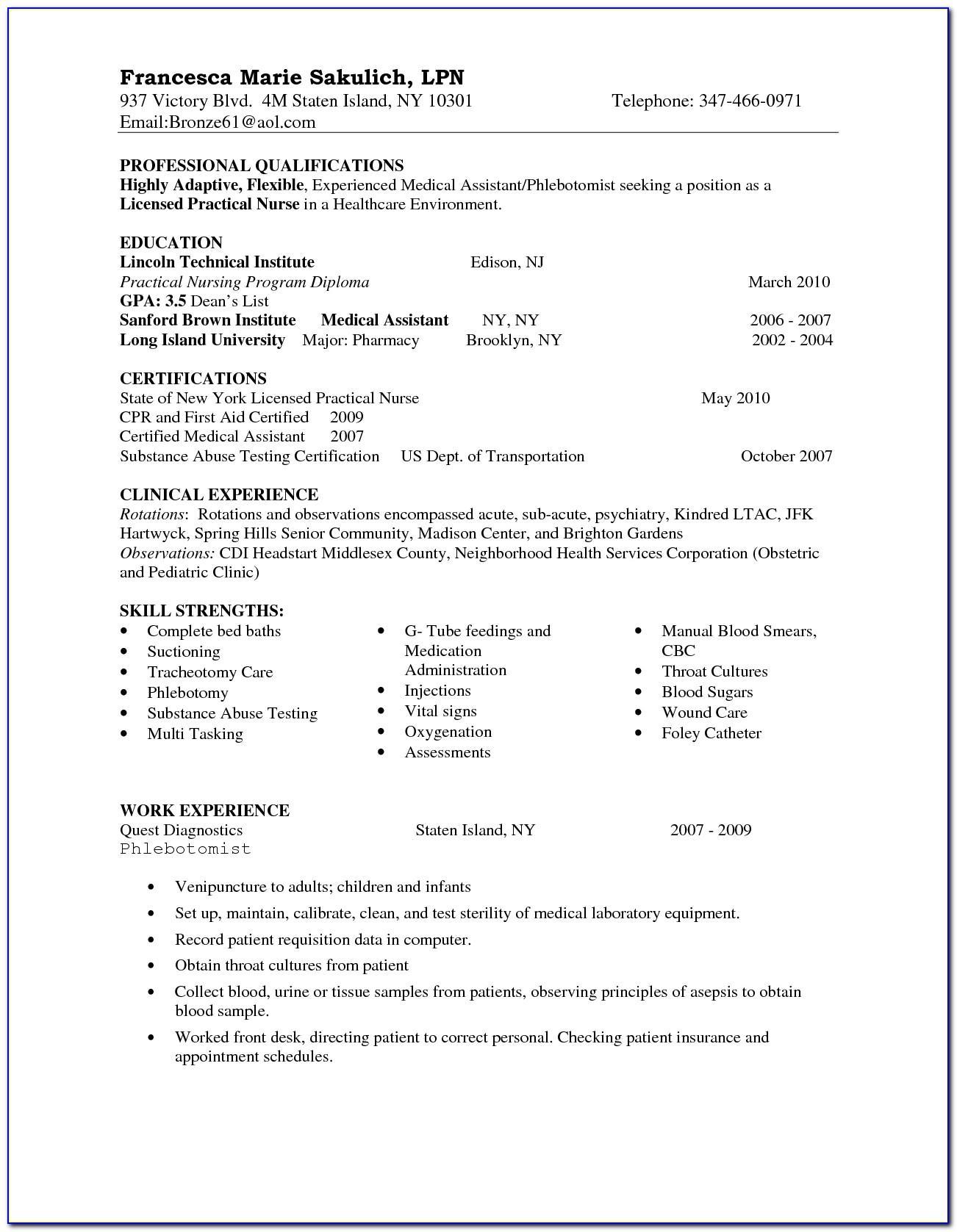 Resume Examples Australia Nursing