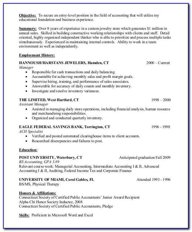 Resume Examples For Account Executives