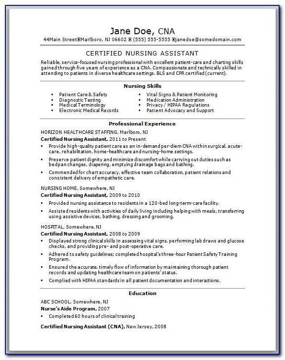 Resume Examples For Nursing Graduates
