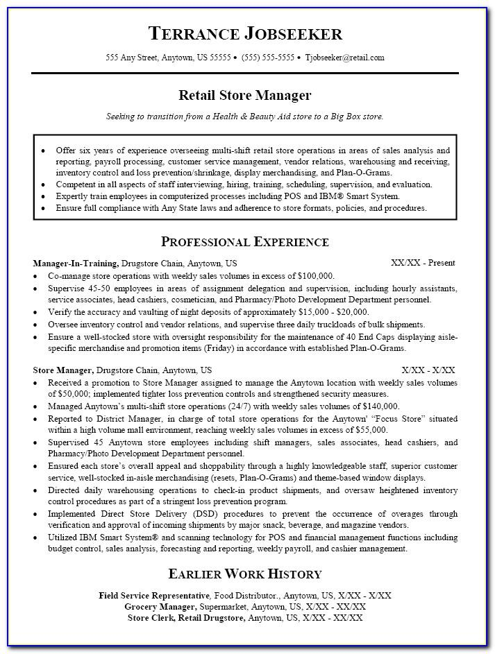 Resume Examples For Project Management