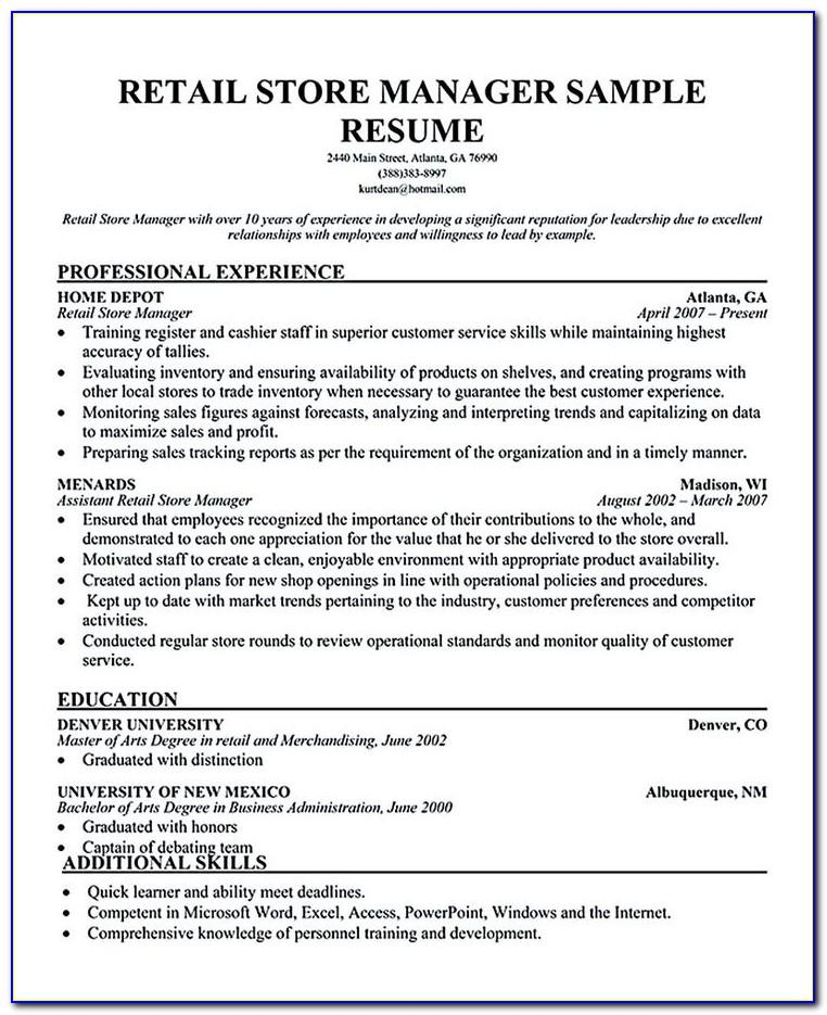 Resume Examples For Project Manager