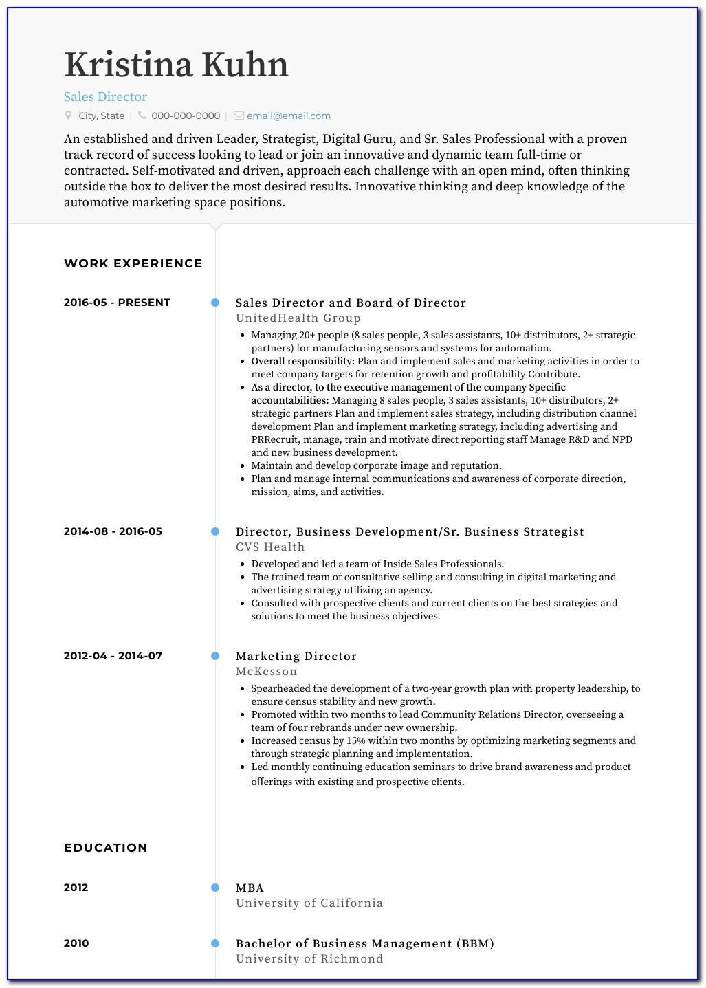 Resume Examples For Retail Sales Position